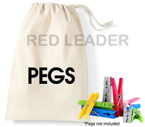 Peg Lightweight Bag Printed Cotton Storage Pegs Washing Cleaning Laundry Drying