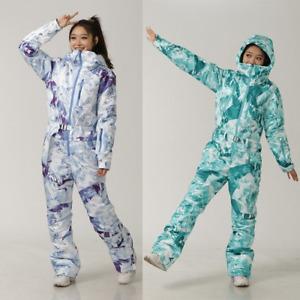 Ski Set Women Ski Jumpsuit Outdoor Sports Snowboard Jacket Jumpsuit Waterproof