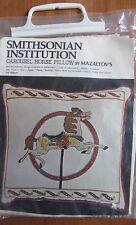 """SMITHSONIAN INSTITUTION """"CAROUSEL HORSE"""" PILLOW,  MAZALTOV'S, EMBROIDERY KIT"""