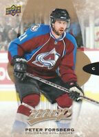 2016-17 Upper Deck MVP Hockey #267 Peter Forsberg SP Colorado Avalanche