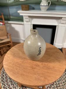 Dollhouse Miniature Artisan Signed Phyllis Howard Stoneware Crock (r)