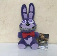 "FNAF Five Nights At Freddy's Nightmare Bonnie Stuffed Animal Plush 6"" US Seller"