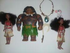 Lot of Disney Moana dolls and figurines.