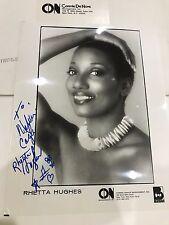 Rhetta Hughes - Re-Light My Fire - Funk Soul Singer Actress Autograph Photo Rare