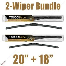 """2-Wipers: 20"""" + 18"""" Trico Force All-Season Beam Wiper Blades - 25-200 25-180"""