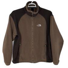 The North Face Men's Sz Large Full Zip Brown Fleece Jacket