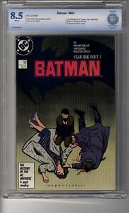 Batman (1940) # 404 - CBCS 8.5 WHITE Pages - Year One - Frank Miller
