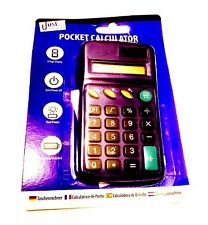 Just Stationery Pocket Calculator - 8 Digit Display  Black