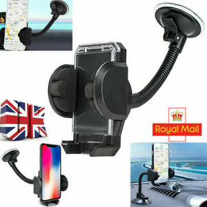 360°Universal Long Arm Windscreen Car Dashboard Phone GPS Holder Apple iPhone UK