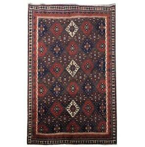 5x7 Authentic Hand-knotted Oriental Sirjan Rug B-81668