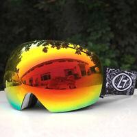 Frameless Snow Goggles for Men Women Super Comfort Spherical Dual Lens Design