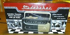 Studebaker Portable Cassette Player Recorder Fm Radio