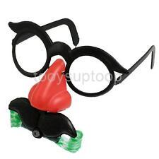 Glasses Mustache Fake Nose Clown Fancy Dress up Costume Prop Fun Party Favor