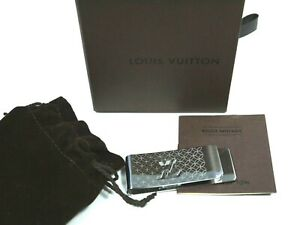 Louis Vuitton LV Monogram Silver/Chrome Money Clip Used with Box