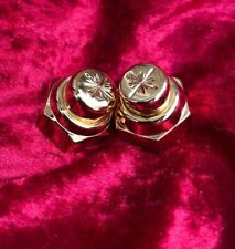 LAMBRETTA S1 S2 S3 CUSTOM HAND ENGRAVED GOLD PLATED FRONT HUB SPINDLE NUTS PAIR