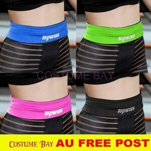 AU Sports Running Belt Belly Waist Bum Bag Phone Pouch Band Fitness Gym Cycling