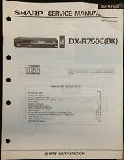 SHARP DX-R750E CD PLAYER MANUFACTURERS SERVICE MANUAL