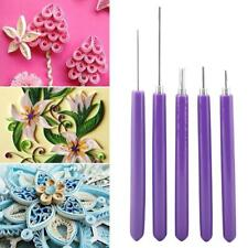 5PCS Multifunction Quilling Slotted Tools Paper Quilling Scrapbook Craft Set Kit