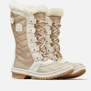 Sorel TofinoII LUX Quilted Boots Rubber Duck Toe Lace Up Vamp Metallic Tan 6.5