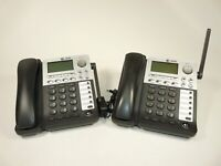 Lot of 2 AT&T SB67148 DECT 6.0 SynJ 4-Line Cordless Deskset Power Test AS-IS