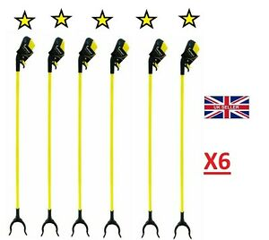 6X Large Strong Litter Picker Rubbish Pick Up & Reaching Home &Outdoor Hand Tool