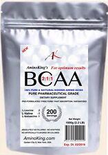 Amino King's PURE BCAA 2:1:1 STRONG BULK MUSCLES 1000g (2.2 LB) FREE FORM POWDER