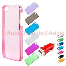 ONE Slim & Thin Clear Colored iPhone5 Hard Case + ONE Turbo USB Car Charger