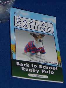 Casual Canine Rugby DOG Polo Shirt Red/Blue Yellow/Green XS