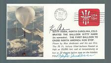 Kitty Hawk Balloon signed cover Maxie & Kris Anderson 1st Balloon to Cross.....