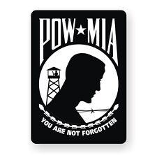 POW MIA Vinyl Decal / Bumper Window Sticker Military United States Army Marines