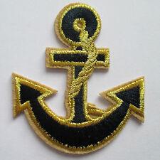 Anker Aufnäher / patch Rockabilly St. Pauli anchor Bügelbild Aufbügler schwarz