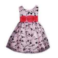 Vestido de Fiesta de Niña en Rosa Fucsia en 12 18 Meses 2 3 4 Años Nuevo