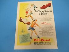 1945 Print Ad, Poll-Parrot and Star Brand Shoes with built-in fit, PA017