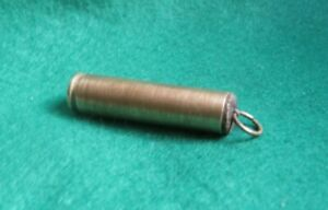 Vintage Sewing Kit Brass 1942 Bullet Casing & Contents