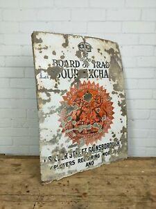 Original Vintage Enamel Advertising Sign - Board of Trade Gainsborough