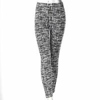 Simply Vera Wang Black White Geometric Leggings Womens S M L XL NEW $36
