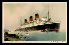 VINTAGE PC RMS QUEEN MARY SHIP CUNARD WHITE STAR LINE