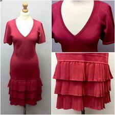 Karen Millen Ladies Pink Stretch 20s Retro Flapper Dress UK 12 Peaky Blinders