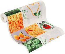 Rasch Tiles & More 885002 Vinyltapete Struktur Küche Italien grau grün rot gelb