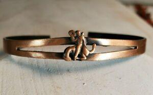 Solid Copper Cuff Bracelet Dainty Cowgirl / Boy Small Bucking Bronco