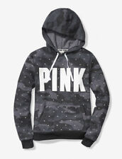 Victorias Secret Pink Bling Rhinestone Pullover Hoodie Grey Camo Extra Large XL