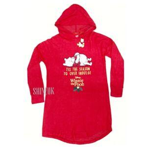 Disney Winnie the Pooh Ladies Long Hooded jumper Dress Christmas Primark BNWT