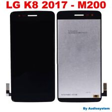 DISPLAY LCD +TOUCH SCREEN per LG OPTIMUS K8 2017 M200 VETRO NERO RICAMBIO NUOVO