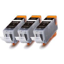 3 PK BLACK Ink w/ CHIP for PGI 225 BK Canon Pixma ip4820 iP4920 iX6520 MG5120