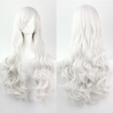 Lady 80cm Long Curly Wigs Fashion Cosplay Costume Hair Anime Full Wavy Party Wig