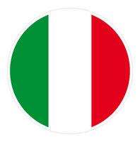 6 x Autocollant 5cm drapeau rond ITALIE sticker valise vélo voiture