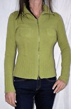 SEARLE  100% CASHMERE SOFT KNIT ZIP UP HIGH NECK CARDIGAN SWEATER JACKET size S