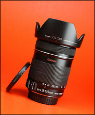 Canon EF-S 18-135mm f3.5-5.6 IS Image Stabilizer Zoom Lens + F/R Lens Caps +Hood