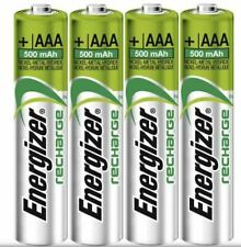 ENERGIZER AAA 500mAh RECHARGE UNIVERSAL NiMh BATTERIES PRE-CHARGED