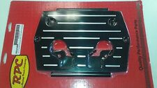 RPC R6323BK Optima Battery 34/78 Billet Aluminum Hold Down Tray Red/Yellow